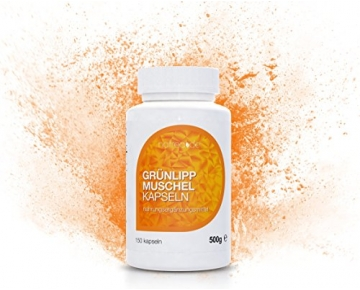 Natrea Grünlippmuschel Kapseln | 150 Kapseln ✔ hoch konzentriert ✔ ca. 60 Tage Anwendung ✔ reich an Omega-3-Fettsäuren ✔ für gesunde Gelenke und kräftige Sehnen